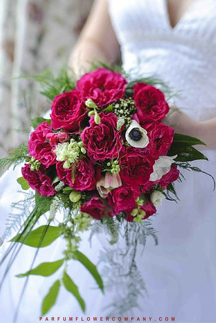 red roses wedding bouquet david wedding kate 7010