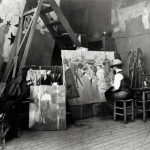 Henri de Toulouse-Lautrec in his studio