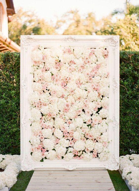 35 inspiring ideas for a blush wedding parfum flower company for Wedding wall decor