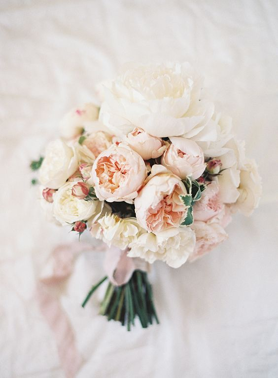 Blush Wedding Bouquet Love The Little Pink Peony Roses