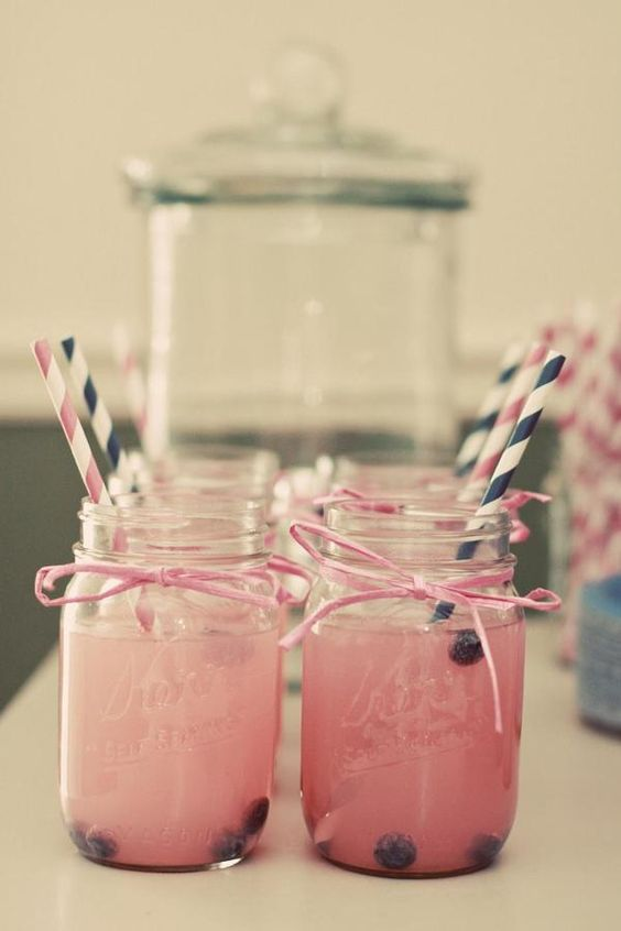 navy pink drinks