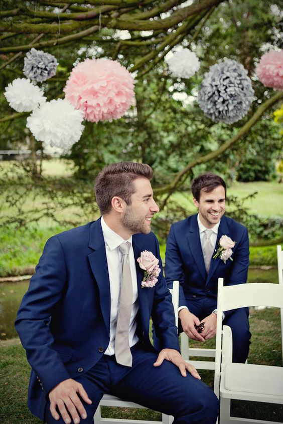 20 Great Ideas For A Pink Navy Wedding