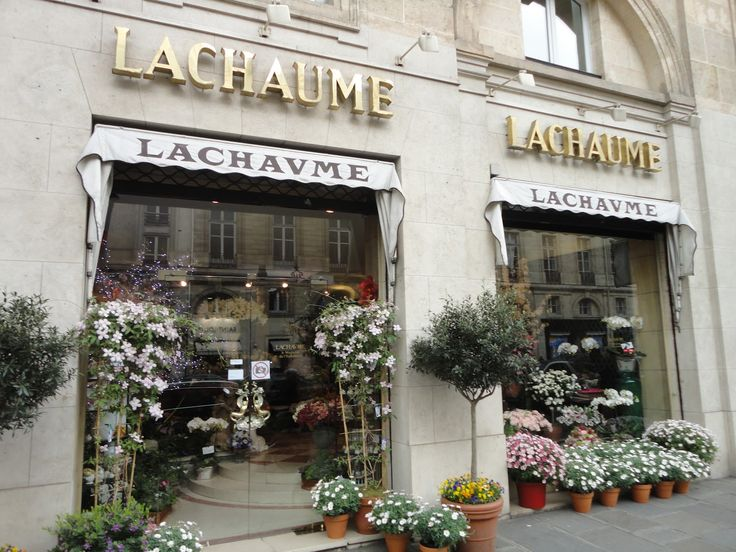 Flower shop Lachaume in the center of Paris.