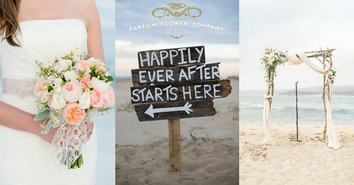 9fd5a10690 21 wonderful ideas for a beach wedding - Parfum Flower Company