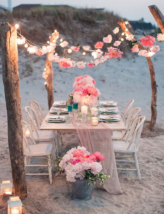 21 Wonderful Ideas For A Beach Wedding Parfum Flower Company
