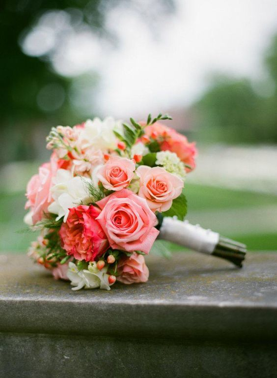 For blush bouquets, definitely use the David Austin Wedding Rose Juliet.