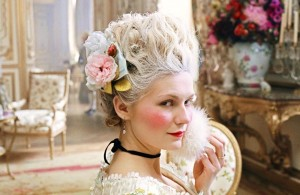 Kirsten Dunst as Marie Antoinette, with floral creations from Thierry Boutemy