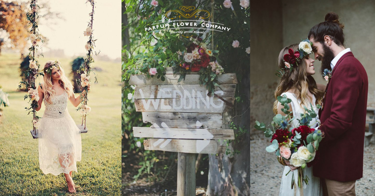 20 ideas for the perfect bohemian wedding parfum flower company 20 ideas for the perfect bohemian wedding junglespirit Image collections