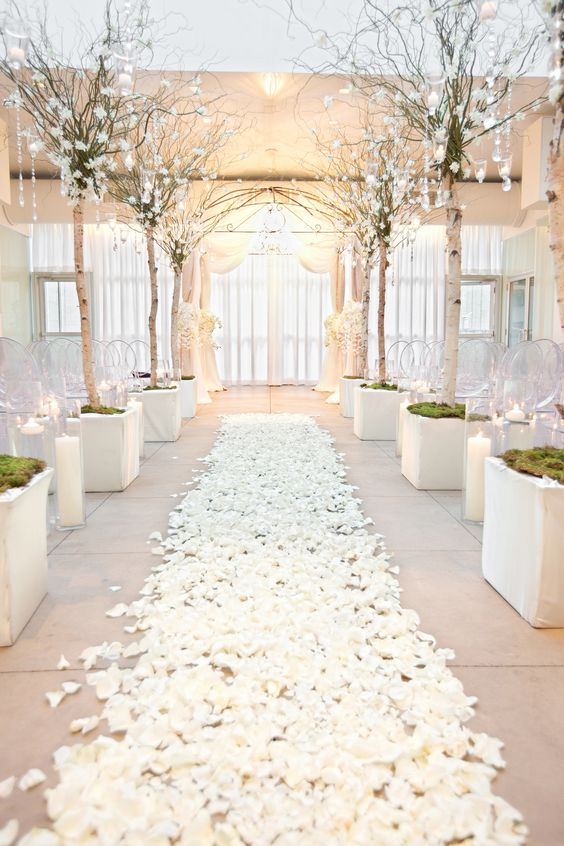 Walking Down The Aisle On Rose Petals Is Always A Good Idea