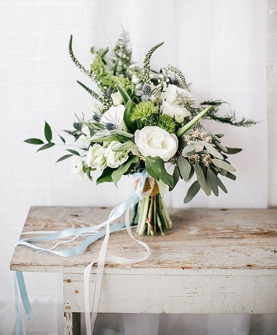 Lush Wedding Bouquet For A White