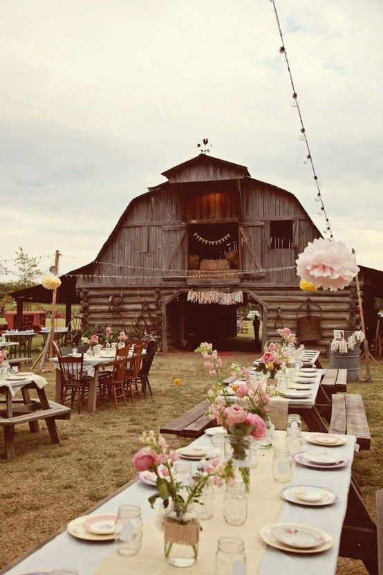 When You Want To Maintain That Rustic Romantic Atmosphere