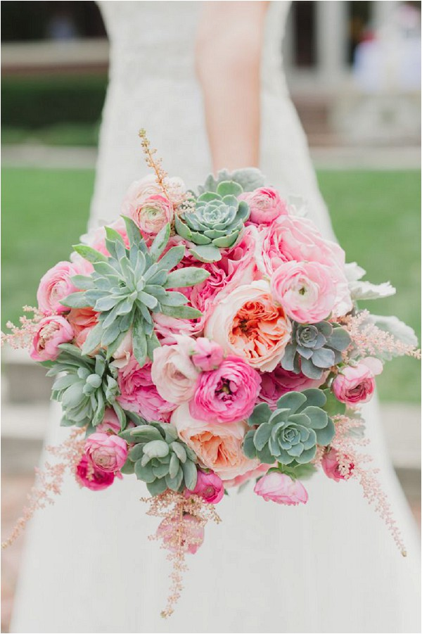 Wedding bouquet with David Austin roses (Juliet)