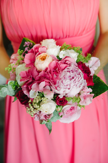Gorgeous bride's maids bouquet with David Austin roses