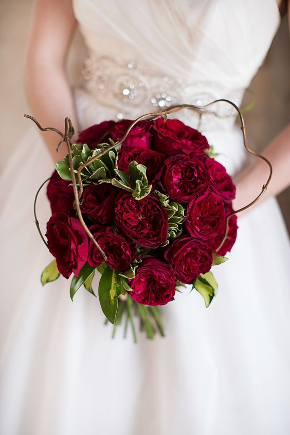 Gorgeous bouquet with David Austin roses.