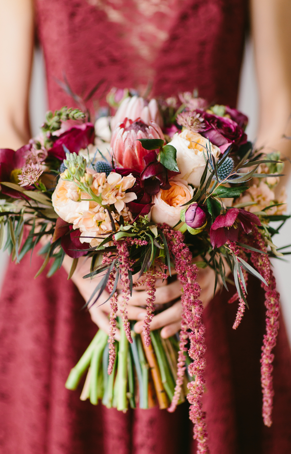 Fall inspired bouquet with garden roses.