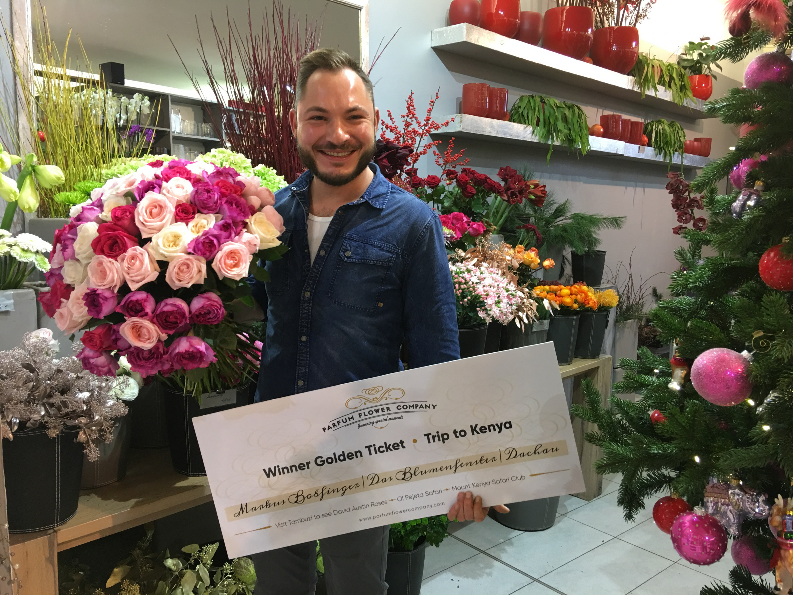 Golden Ticket winner Parfum Flower Company Markus Bobfinger