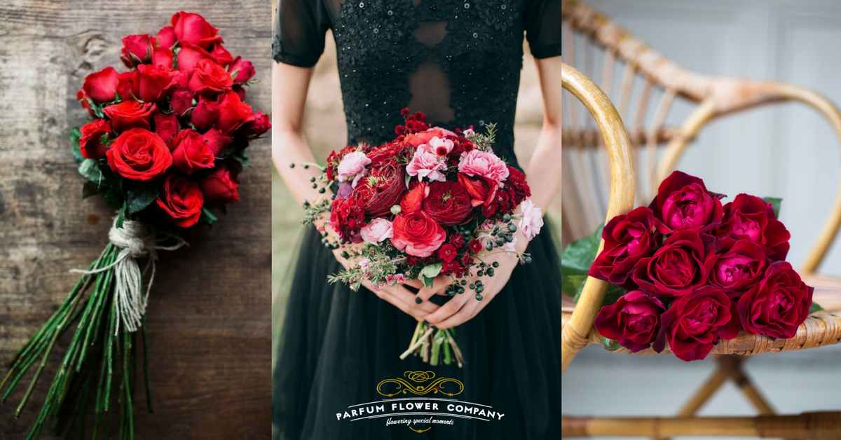 17 romantic red bouquets for Valentine\'s Day