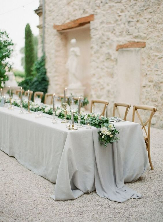 25 Classy Ideas For A White Grey Wedding Theme