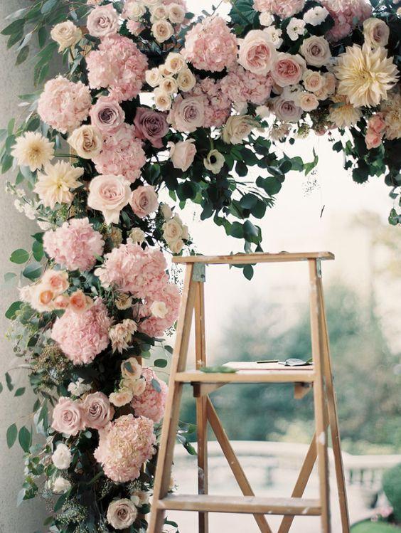 Pink Rose Ceremony Arbor.