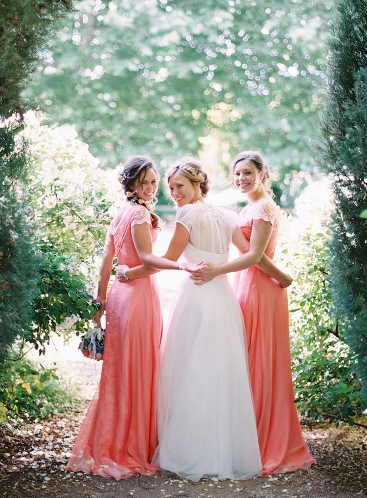 Coral bridesmaids dresses ❤