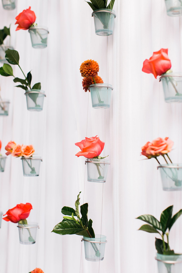 And look at this super creative floral backdrop. Amazing!