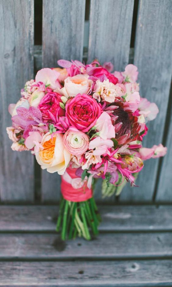 Wild bouquet for a floral inspired treehouse wedding.