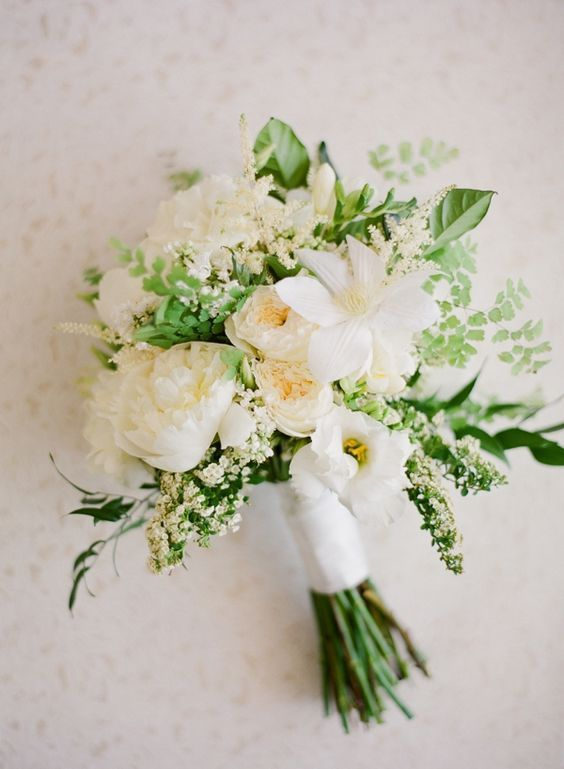 Beautiful Patience roses, packed with greenery. Perfect bouquet for a rustic wedding theme.