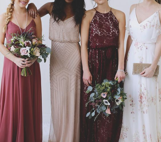 20 Charming Ideas For A Burgundy Blush Wedding