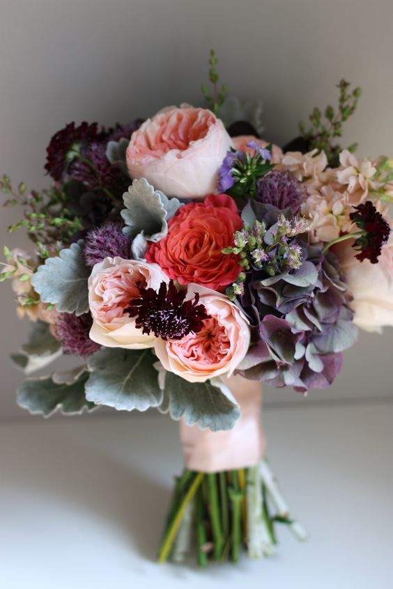 wedding bouquets with roses via Wilkie Blog