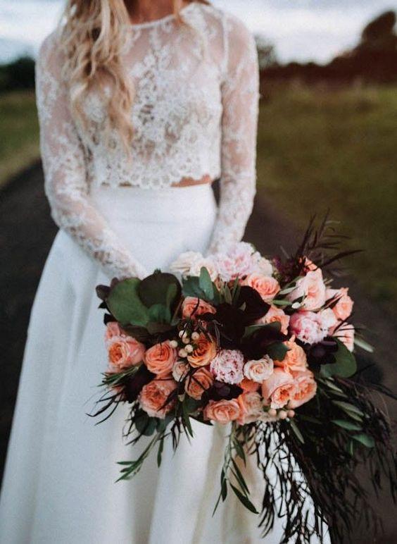 Boho is as hot as ever. Read our blog on bohemian weddings for more inspiration. Via Junebug Weddings