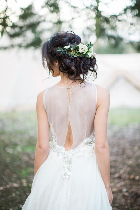 Dreamy hairstyle for a magical wedding day. Via Rock My Wedding