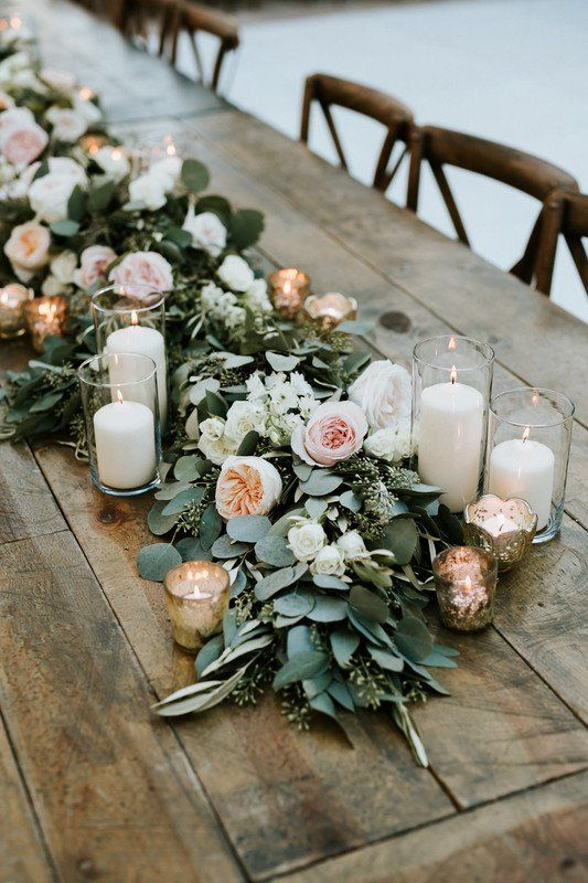 Wedding table setting. Via Wedding Wire
