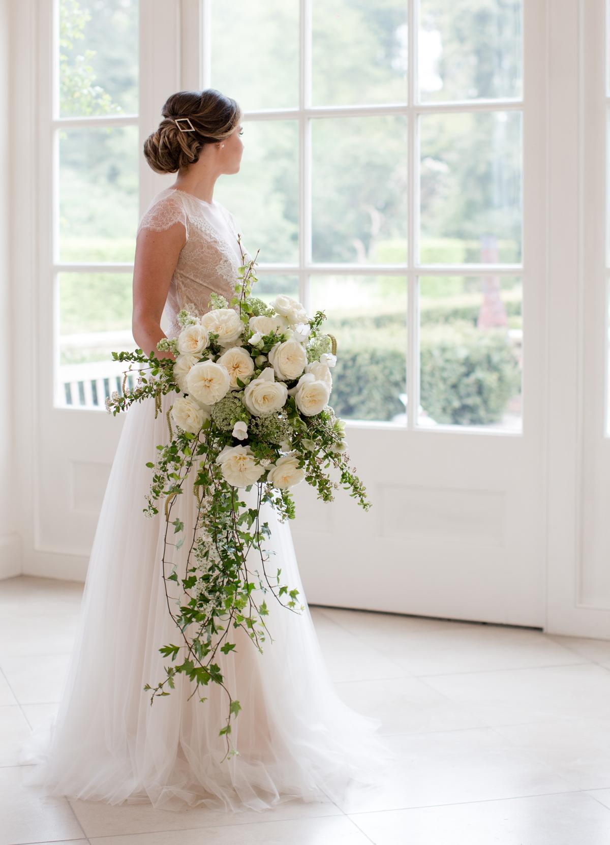 David Austin Leonora wedding bouquet